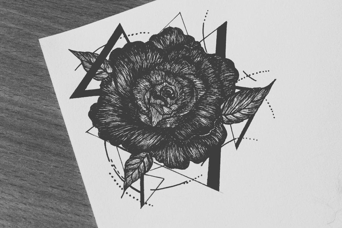 rose tatoo design